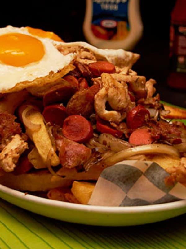 chorrillana, bardos, antofagasta, papas, comida, gourmet